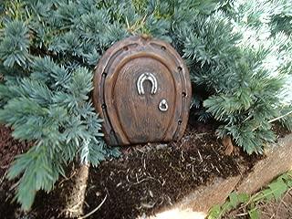 Small Pixie Door Garden Ornament