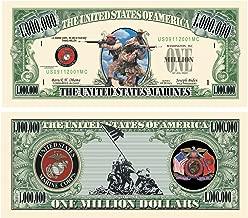 American Art Classics US Marine Corps USMC Commemorative Million Dollar Bill - Pack of 50