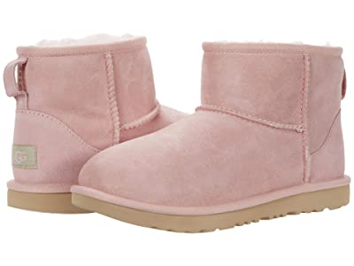 UGG Kids Classic Mini II (Little Kid/Big Kid) (Pink Cloud) Girls Shoes