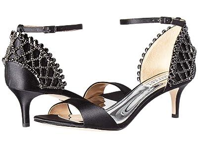 Badgley Mischka Adora (Black Satin) High Heels