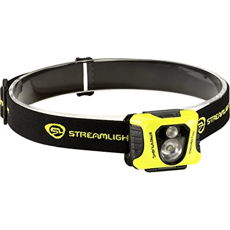 Streamlight 61435 Enduro Pro USB Rechargeable Multi-Function Head Lamp with Elastic Head Strap Yellow