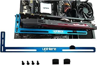 upHere Graphics Card GPU Brace Support Video Card Sag Holder/Holster Bracket, Anodized Aerospace Aluminum, Single or Dual Slot Cards (Blue)