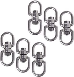 Cosmos Pack of 6 Smooth Hanging Basket Spinners Swivel Hook for Hanging Plants Chimes Bird Feeder