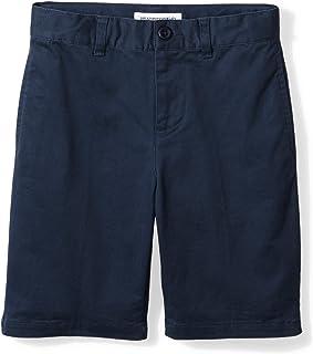 Amazon Essentials Boys Woven Flat-Front Khaki Shorts