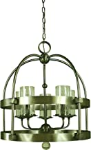 """product image for Framburg 4525 BN 5-Light Compass Chandelier, 60"""" x 22"""" x 24"""", Brushed Nickel"""