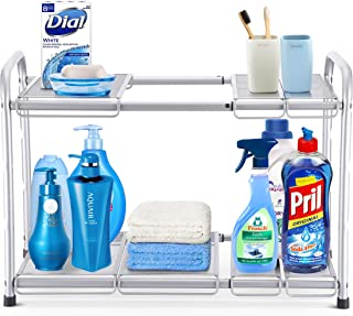 mainstays expandable under sink shelf