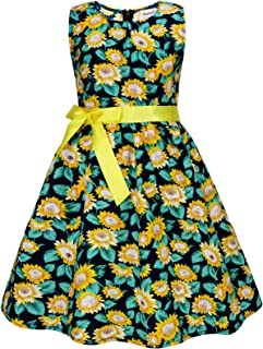 Party Floral Little Girls Toddler Summer Dresses Clothes,E59,7-8 Years(140)