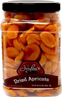 Jaybee's Nuts and Dried Fruits - Dried Apricots 3 Lbs - Healthy & Nutritious Dry Fruit Superfood - High in Antioxidants, Beta-Carotene, Potassium, Vitamins A, C, E, Fiber - Vegan, Keto, Diet Friendly, Boosts Gut and Skin Health - Kosher