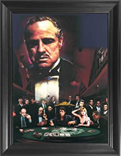 The Godfather 3D Poster Wall Art Decor Framed Print | 14.5x18.5 | Lenticular Posters & Pictures | Memorabilia Gifts for Guys & Girls Bedroom | Mob Bosses Sopranos Scarface Goodfellas Al Pacino Movie