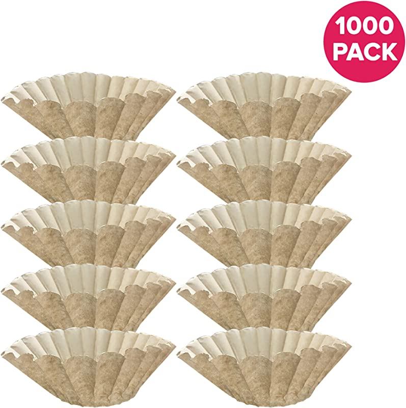 Think Crucial 1000PK Replacement For Bunn Unbleached Paper Coffee Filter Fits 12 Cup Commercial Coffee Brewers Compatible With Part 1M5002 20115 0000