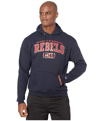 Champion College Ole Miss Rebels Eco(r) Powerblend(r) Hoodie (Navy 2) Men
