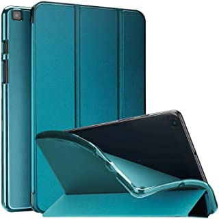 ProCase Dreifach Hülle für Galaxy Tab A 8.0 Zoll 2019 SM T290 T295 T297, Dreifach WEICH TPU Rücken Schutzhülle, Dünn Leicht Smart Cover Case Shale mit Klar Frosted Rücken  Teal
