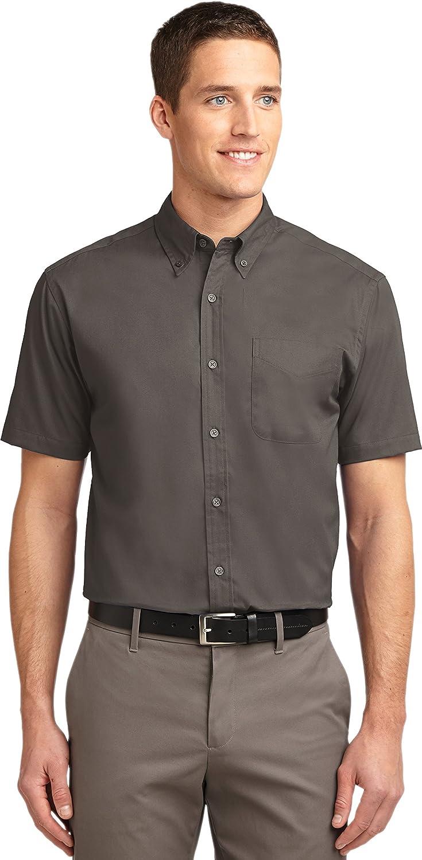 Port Authority Men's Big Short-Sleeve Easy Care Dress Shirt - Bark S508 S