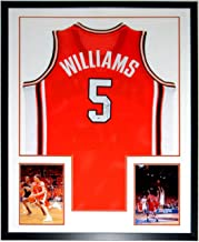 Deron Williams Signed University of Illinois Jersey - Beckett Authentication Services BAS COA - Custom Framed & 2 2005 NCAA Tournament 8x10 Photo 34x42