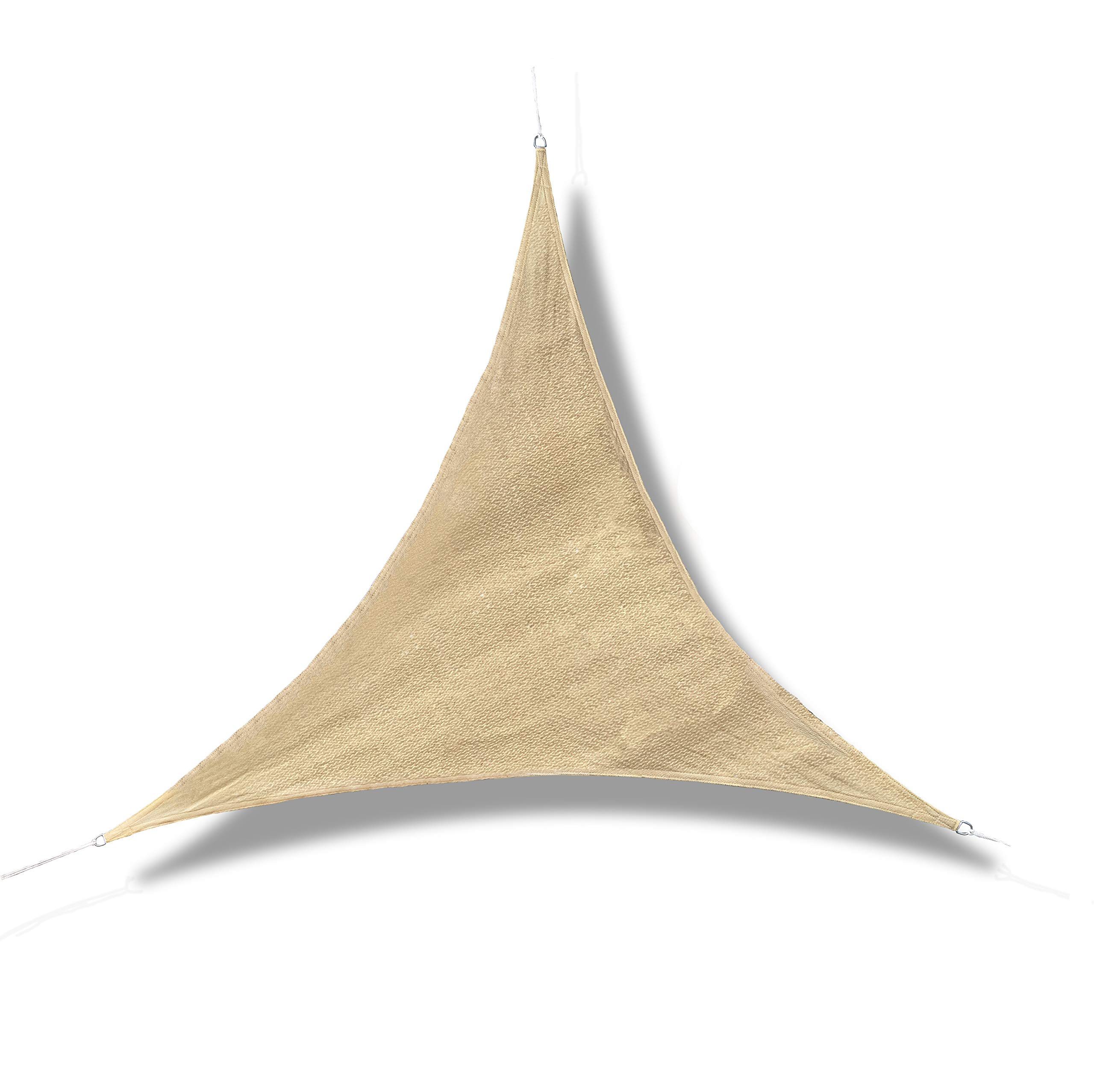 GE-UZ Toldo Vela Triangular | 3, 6x3, 6x3, 6 | Toldo Vela De Sombra | Protección De Rayos UV | Toldos para jardín, Piscina y Terraza | Todo Incluido | Color Arena | Tela Para Exteriores: Amazon.es: Jardín