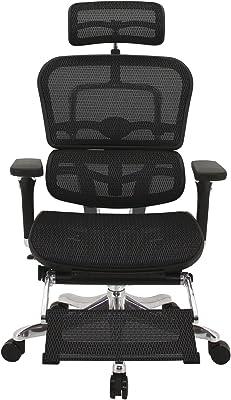 メーカー組立完成品 エルゴヒューマン プロ オットマン内蔵型 オフィスチェア ブラック エラストメリックメッシュ EHP-LPL KM-11