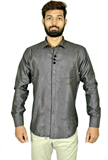 Dude Chase Casual Satin Purple Shirt(38,40,42)