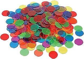 ラーニングリソーシズ カラフルカウンター 透明おはじき 直径1.9cm 250個入り LER0131 正規品