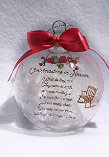 Christmas In Heaven Memorial Ornament - Express Sympathy for Funeral - Comfort for Loss of Loved One