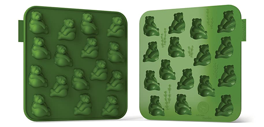 Siliconezone SZ11OM-11669AA Panda Chocolate Mold, Green