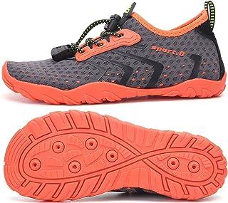 Zapatos de Agua Niños Niñas Secado Rápido Respirable Antideslizante Escarpines Agua,Gr 24-36