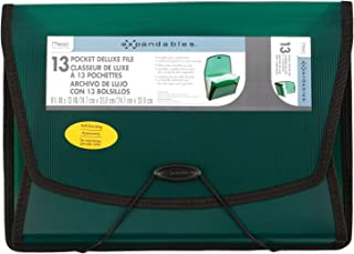 """Mead Expanding File Folder, School Organizer, Paper Organizer, 13-Pocket, 9-3/4"""" x 13"""", Deluxe Expandables, Green (38522)"""