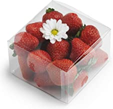 """Clear Plastic Boxes: 50-Pack Transparent Pastry Containers Set 