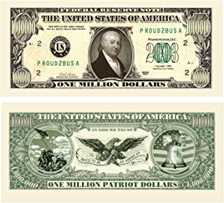 (25) Patriot Million Dollar Bill