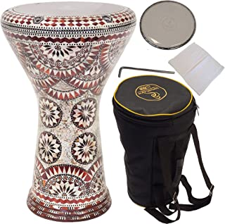 """Gawharet El Fan 17"""" darbuka drum - A great hand drum and percussion instrument for gifting - A Made in Egypt instrument li..."""