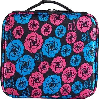 Goriest Makeup Bag,Cosmetic Bags travel Makeup Train Case Travel Portable Handbag Storage Bag Large Organizer Toiletry Bag Multifunction with Adjustable Dividers for Girls,Women (Rose)