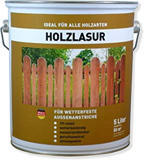 Wilckens Holzlasur Holzschutzlasur Farbwahl 5 Liter, Farbe:Palisander