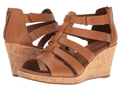 Rockport Briah Gladiator (Dark Tan Leather) Women