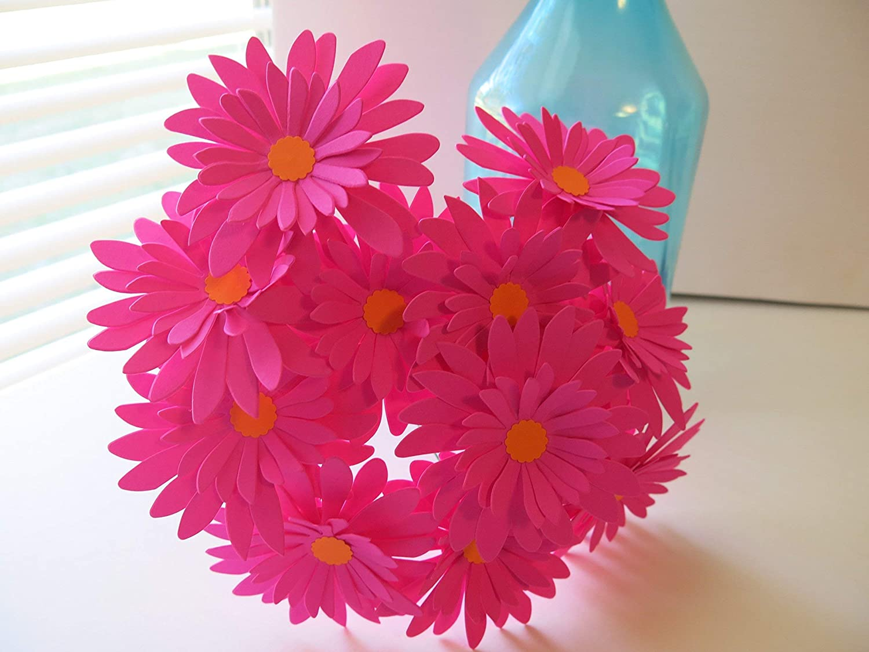 12 Fuchsia Gerbera Daisies on Stems Daisy Gerber Dedication Hot Inch 3 Pink Fashionable