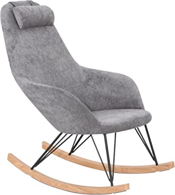 CEDEN CHAIR Rockingchair South, Polyester, Gris, 102 x 66 x 109 cm