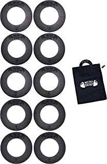 featured product USA Made Micro Gainz Olympic Fractional Weight Plate Set of .25LB-.50LB-.75LB-1LB-1.25LB Plates(10 Plate Set)-Designed for Olympic Barbells, Used for Strength Training & Micro Loading w/Carrying Bag