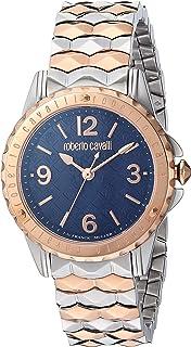ROBERTO CAVALLI Women's Swiss Quartz Watch with Rose Gold Tone Strap, Two, 16 (Model: RV1L048M0106)