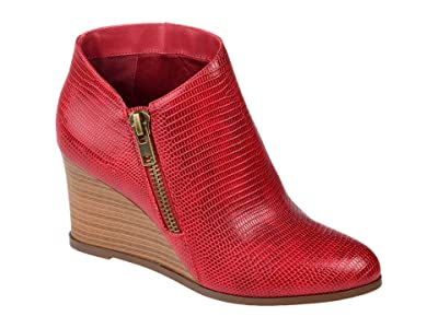 Journee Collection Comfort Foam Glam Wedge Bootie (Red) Women