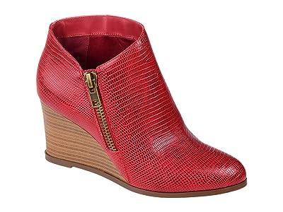 Journee Collection Comfort Foamtm Glam Wedge Bootie (Red) Women
