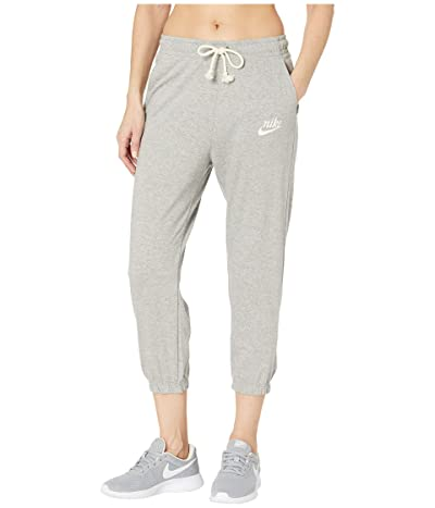 Nike NSW Gym Vintage Capris (Dark Grey Heather/Sail) Women