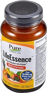 Pure Essence Labs LifeEssence Mens Formula - World's Most Energetic Multiple - The Master Multiple - 120 Tablets