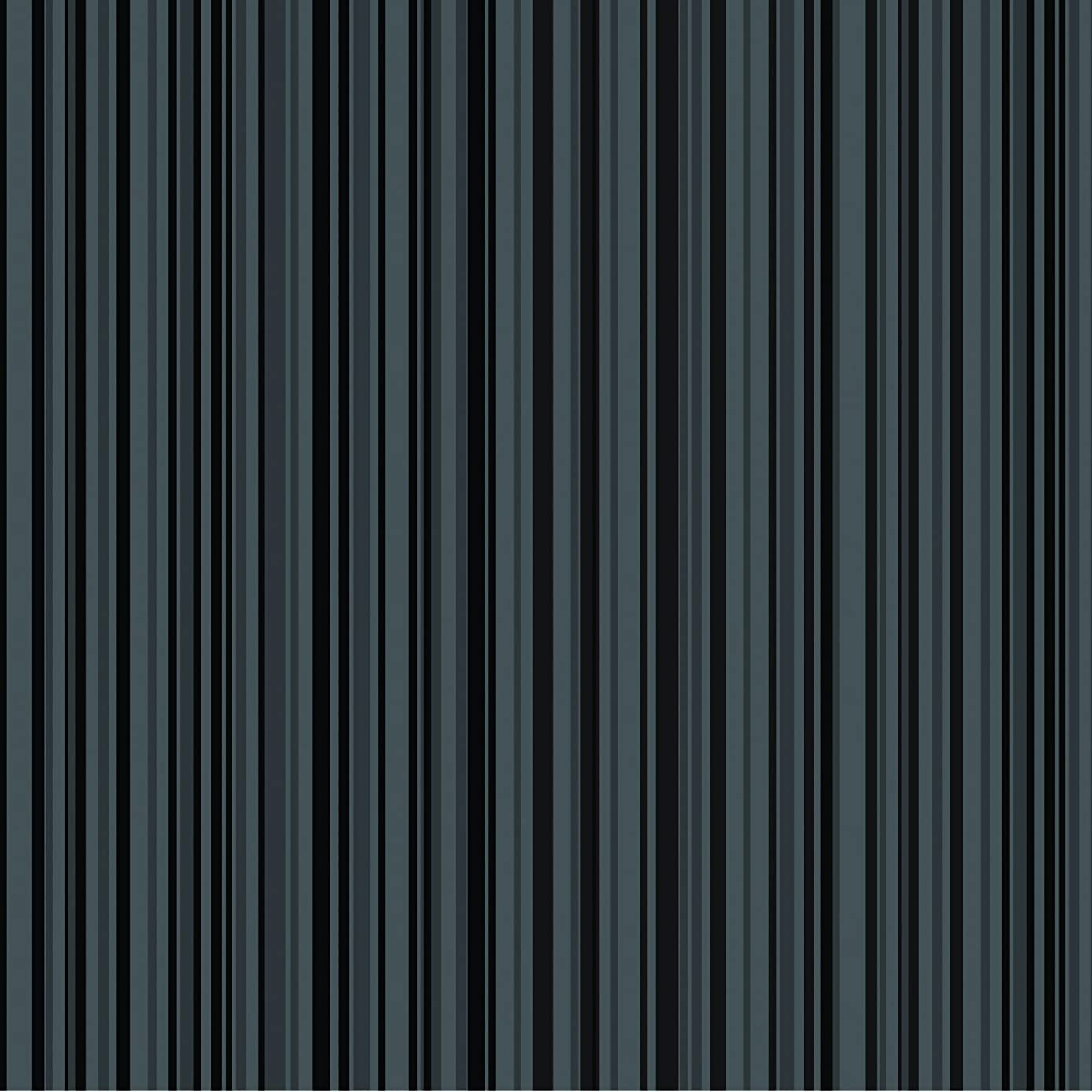 American Crafts Core'dinations 12 Pack of 12 x 12 Inch Patterned Paper Black Stripe,