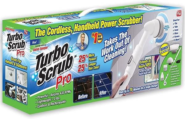 ONTEL Turbo Scrub PRO 360 无绳可充电地板洗涤器和瓷砖清洗机 25 更多电源 25 更多电池寿命