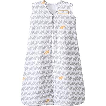 Halo Sleepsack Cotton Wearable Blanket, Grey Elephant Graphics, Large