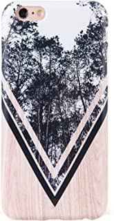 DICHEER iPhone 6 Plus Case,iPhone 6s Plus Case,Cute Grey Trees and Wood for Women Girls Slim Fit Thin Clear Bumper Glossy TPU Soft Rubber Silicon Cover Best Protective Phone Case for iPhone 6 6s Plus