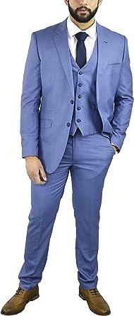Cavani - Traje - para Hombre Azul Azul Celeste 42 Regular ...