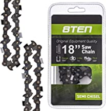 8TEN Chainsaw Chain 18 Inch Bar .050 Gauge .325 Pitch 72 Drive Links for Husqvarna Poulan Pro Johnsered