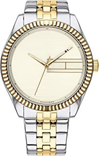 Tommy Hilfiger Women's Champagne Dial Two Tone Stainless Steel Watch - 1782083