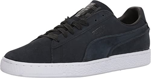 PUMA Men& 039;s Suede Classic Exposed Seams Turnschuhe, schwarz, 10 M US