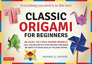 Classic Origami for Beginners Kit: 45 Easy-to-Fold Paper Models: Full-color Instruction Book; 98 Sheets of Folding Paper (...
