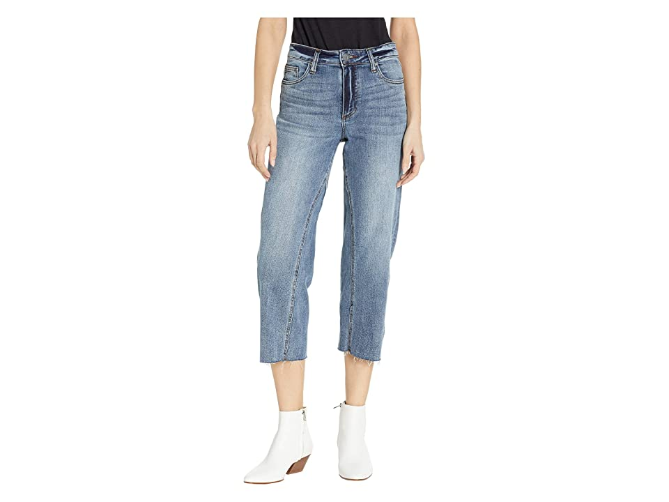 KUT from the Kloth Charlotte Crop Culottes in Recover w/ Medium Base Wash (Recover w/ Medium Base Wash) Women